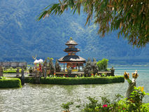 Bali water temple on lake, Indonesia Royalty Free Stock Photography