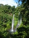 Bali waterfall view landscape panorama, Sekumpul Waterfall. Bali island Stock Images