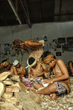 Bali - wood carving Stock Photo