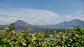 Bali wulkanu widoku wyspy Indonezyjska podróż Slowmotion zbiory wideo