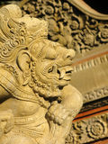 2007: Bali wyspa INDONEZJA, LIPIEC - Profil kamienny idol w świątyni Bali Fotografia Stock