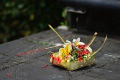 Bali-Zeremoniell stockbild
