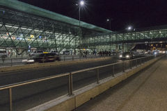Balice Aiport na noite Imagens de Stock Royalty Free