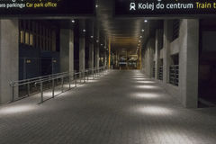 Balice Aiport at night stock photo