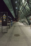 Balice Aiport at night stock photography