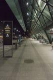 Balice Aiport przy nocą Fotografia Stock