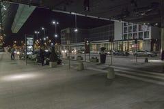Balice Aiport przy nocą Obrazy Royalty Free