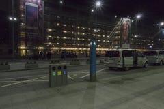 Balice Aiport przy nocą Zdjęcie Stock