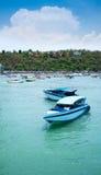 Balihai molo Pattaya miasto, Turystyczne łodzie przy Bali Hai molem w Pattaya, Tajlandia Zdjęcie Royalty Free