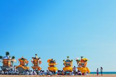 Balijczyk ceremonia Melasti przed Nyepi dniem obrazy royalty free