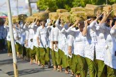 Balijczyk ceremonii ludzie Zdjęcia Royalty Free