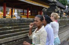 Balijczyk kobiety w Ulun Danu Bali Fotografia Stock