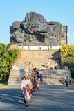 Balijczyk parada przez ziemi przy GWK fotografia stock