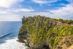 Balijczyka Świątynny Patrzeć Nad Spokojnym oceanem Fotografia Stock