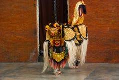 Balijczyka Barong tradycyjny taniec z Barong Indonezja Zdjęcia Stock