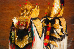 Balijczyka Barong tradycyjny taniec z Barong Indonezja Zdjęcie Royalty Free