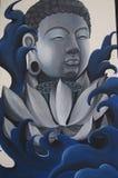 Balijczyka Buddha Gautama malowidło ścienne w Ubud zdjęcia royalty free
