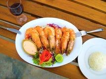 Balijczyka Jimbaran plażowy sławny dla go ` s dennego jedzenia perfect restauracje Obrazy Royalty Free