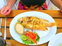 Balijczyka Jimbaran plażowy sławny dla go ` s dennego jedzenia perfect restauracje Obrazy Stock