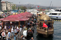 Balik Ekmek boats in Istanbul Royalty Free Stock Images