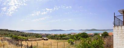 BALIKESIR, TURKEY - MAY 18 2015:  Seaside panorama Stock Image