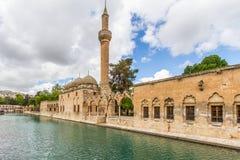 Balikli Gol und Moschee Halil-Ur Rahman stockfoto