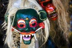 Balinees masker royalty-vrije stock foto's