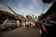 Balinees Nieuw jaar - Dag van Stilte Stock Afbeelding