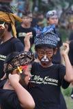 Balines chłopiec przy Nyepi festiwalem Fotografia Royalty Free