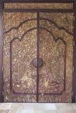 Balines schnitzte Tür Stockfoto