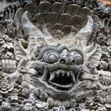 Balines stone sculpture in the temple in Ubud, Bali, Indonesia Royalty Free Stock Photo