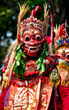 Balinese actors during a dance show Royalty Free Stock Images