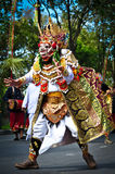 Balinese actors during a dance show Stock Photo