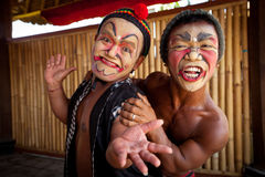 Balinese actors posing for turists Royalty Free Stock Images