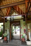 Balinese architecture, hotel main door Royalty Free Stock Photography