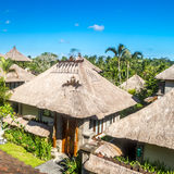 Balinese architecture, rustic houses with straw roof Stock Photo