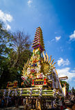 Balinese art. BALI, INDONESIA - AUGUST 20: Balinese  art to join Public cremation ceremony.  on August 20,2016 at Ubud in  Bali,Indonesia .This is Hindu ceremony Stock Photo
