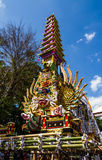 Balinese art. BALI, INDONESIA - AUGUST 20: Balinese  art to join Public cremation ceremony.  on August 20,2016 at Ubud in  Bali,Indonesia .This is Hindu ceremony Stock Photos