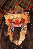 Balinese Barong dance mask. Balinese sacred Barong dance mask Royalty Free Stock Photography
