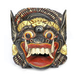 Balinese Barong mask. Wooden Barong mask from Tegallalang in Bali, Indonesia, on a white background Royalty Free Stock Images