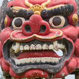 Balinese Barong statue in Central Bali temple Royalty Free Stock Images