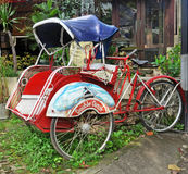 Balinese Bicycle Tuk Tuk or Cyclo Stock Photos