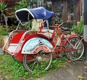Balinese Bicycle Tuk Tuk or Cyclo stock photos