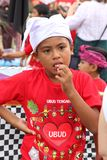 Portret of a Balinese boy at a festival,Bali Royalty Free Stock Photography
