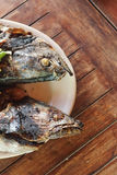 Balinese cafes. Fresh tuna grilled. Royalty Free Stock Photography