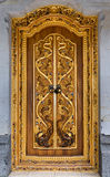 Balinese carving door in Batuan temple, Bali Royalty Free Stock Photos