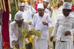 Balinese ceremonie stock foto's
