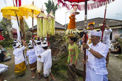 Balinese ceremonie royalty-vrije stock foto