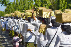Balinese Ceremoniemensen Royalty-vrije Stock Afbeelding