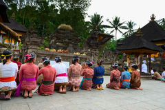 Balinese ceremony in the temple Stock Photography